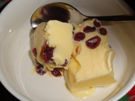 """Cranberry and Cointreau Ice Cream"""