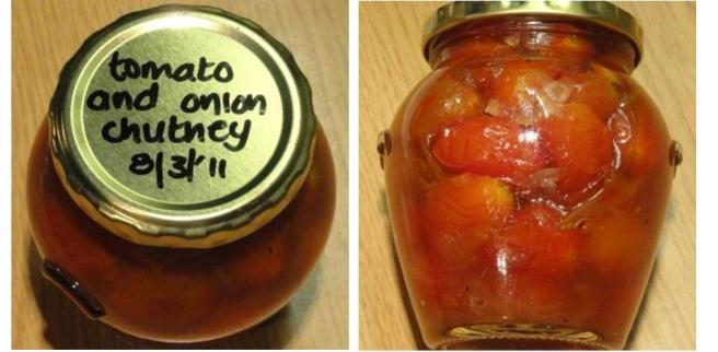 Whole Baby Tomato And Onion Chutney