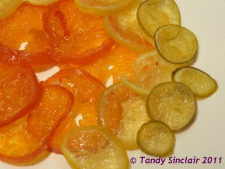 Candied Clemengolds, Lemons & Limes