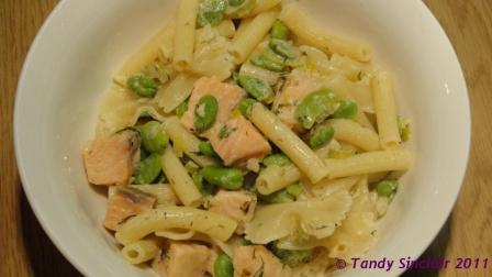 Broad Bean And Gravadlax Pasta