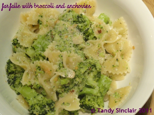 Farfalle With Broccoli And Anchovies