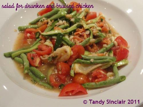salad for drunken and bruised chicken