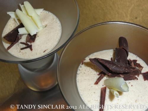 Bailey's Irish cream parfait with cocoa crunch