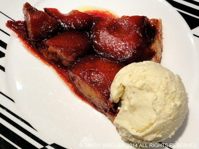 Plum Tart Tatin With Champagne Ice Cream