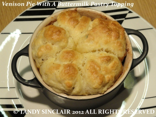 Venison Pie With A Buttermilk Pastry Topping
