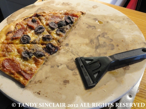In My Kitchen September 2012 pizza stone with glass scraper