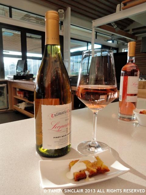 Pinot Noir Chardonnay Served With A Lemon Marmalade Polenta Cake