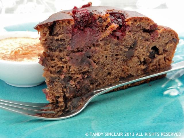 Sourdough Chocolate Cherry Cake