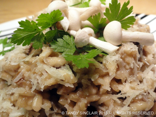 classic wild mushroom risotto