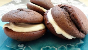 Chocolate Whoopie Pies With A Salted Caramel Filling