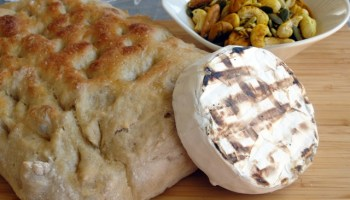 Barbecue Grilled Camembert with Focaccia