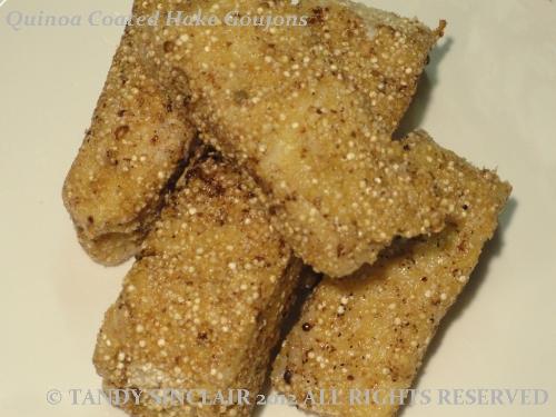 Quinoa Coated Hake Gougons