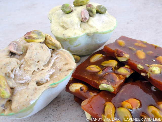Pistachio Gelato And Brittle