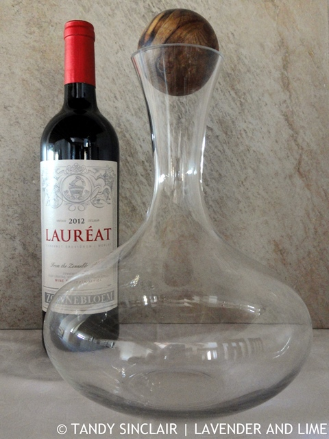 Wine And Decanter In My Kitchen August 2015