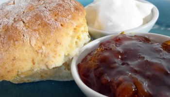 Ginger Ale Scones With Orange And Ginger Marmalade