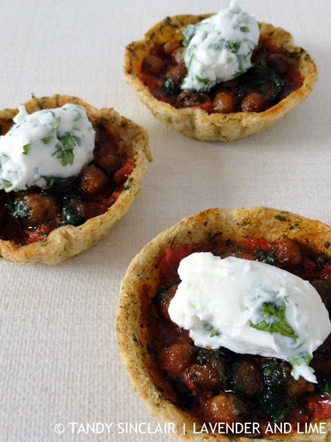Chickpea And Tomato Tartlets