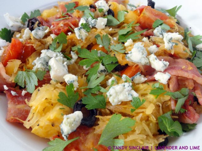 A Bowl Of Healthy Spaghetti Squash