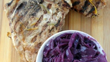 Red Cabbage With Cuban Style Pork Chops