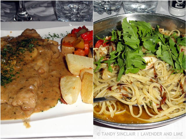 Main Courses At Mauros Restaurant