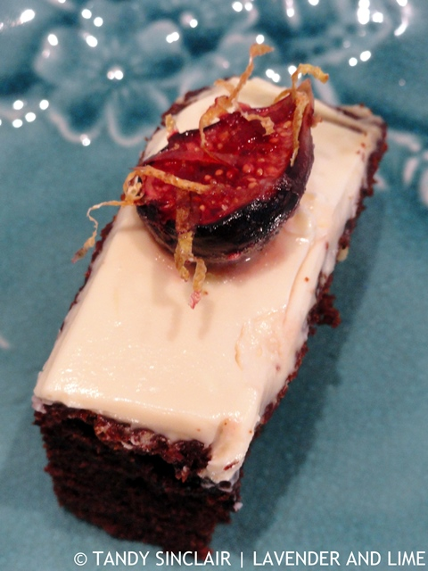 Brownie Chocolate Cake With Baked Masala Figs