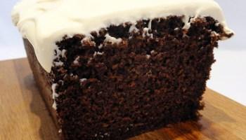 Chocolate Yoghurt Cake With Crème Fraîche Icing