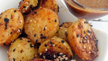 Spicy Roast Potatoes With Tahini And Soy