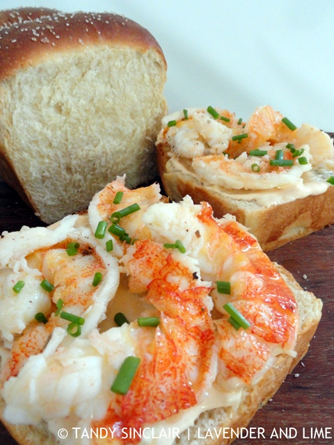 Crayfish On Japanese Milk Bread With Lobster Roll Mayonnaise