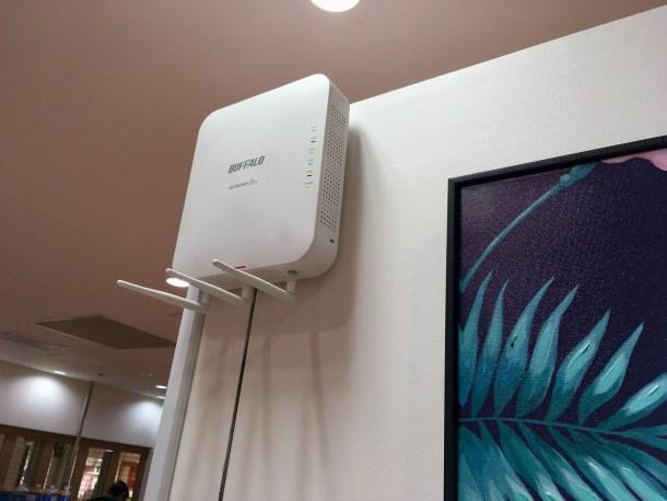 Wi-Fi のセキュリティが期待できる。バッファローのAP