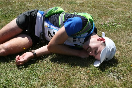 Recovery position at the finish!