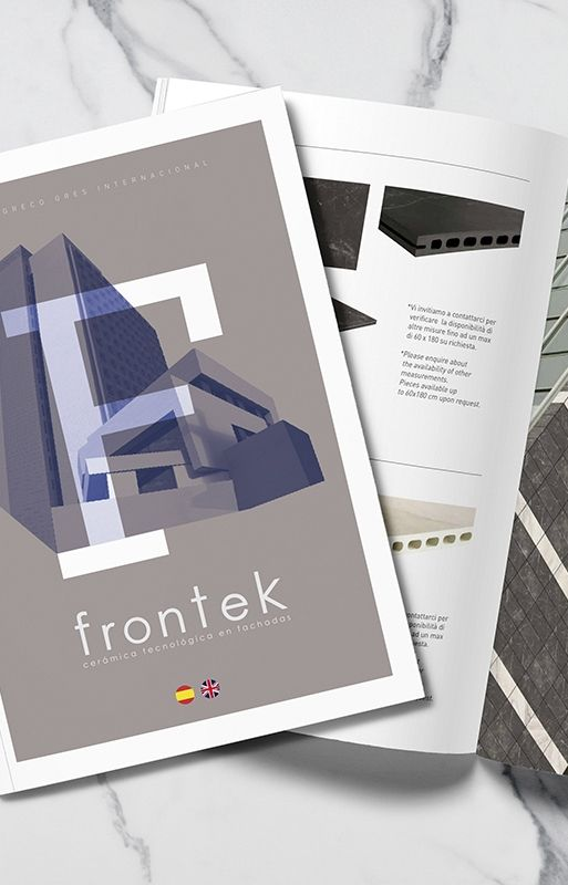 catalogo frontek - diseño gráfico
