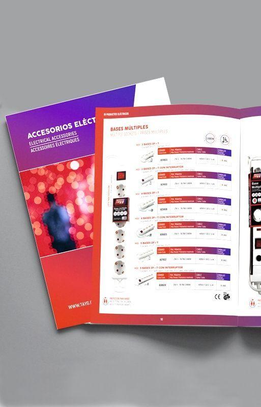catalogo tayg - diseño gráfico valencia