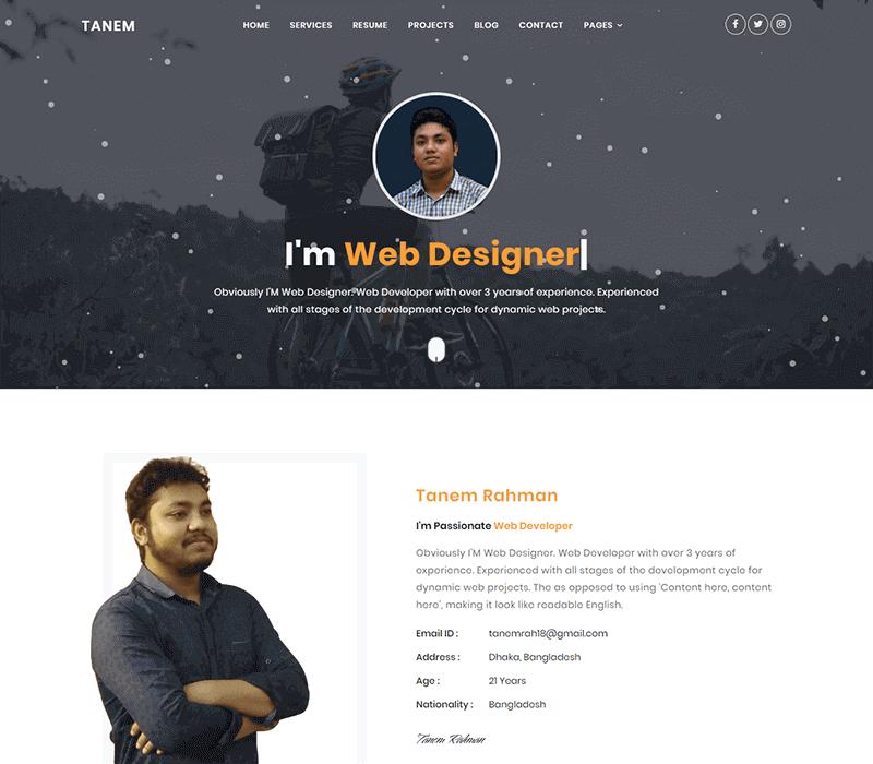cvitae portfolios website