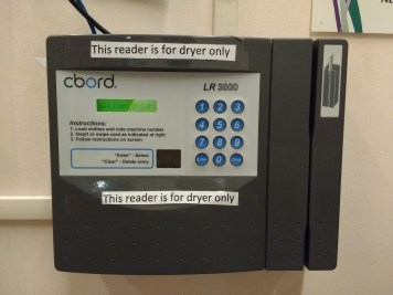 TechCash reader for dryers