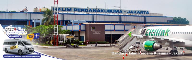 Sewa hiace Jakarta ke Bandara Halim