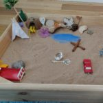 About Tangata Counselling Services - this busy sand tray is being used to depict someone's reality