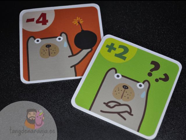 Pick a oso polar puntos cartas juego devir
