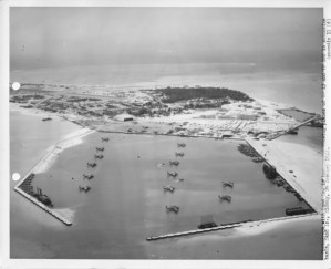 Flying into Sand Island, Midway Atoll