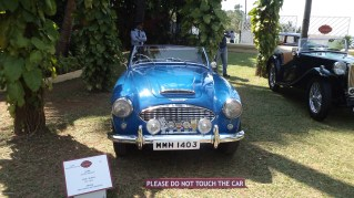 An Austin Healey 1957 owned by Sabena Prakash