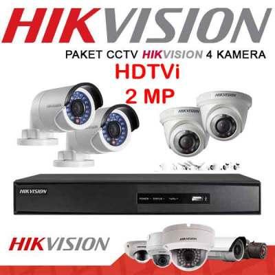 instalasi cctv jabodetabek 4 Channel Hikvision 2MP