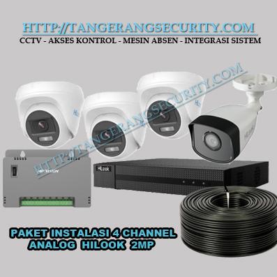 Instalasi CCTV Tangerang-Paket Instalasi CCTV Hilook 4 Channel