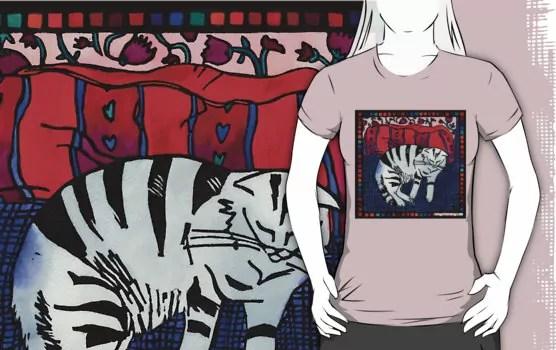 cat and cushion rb tshirt