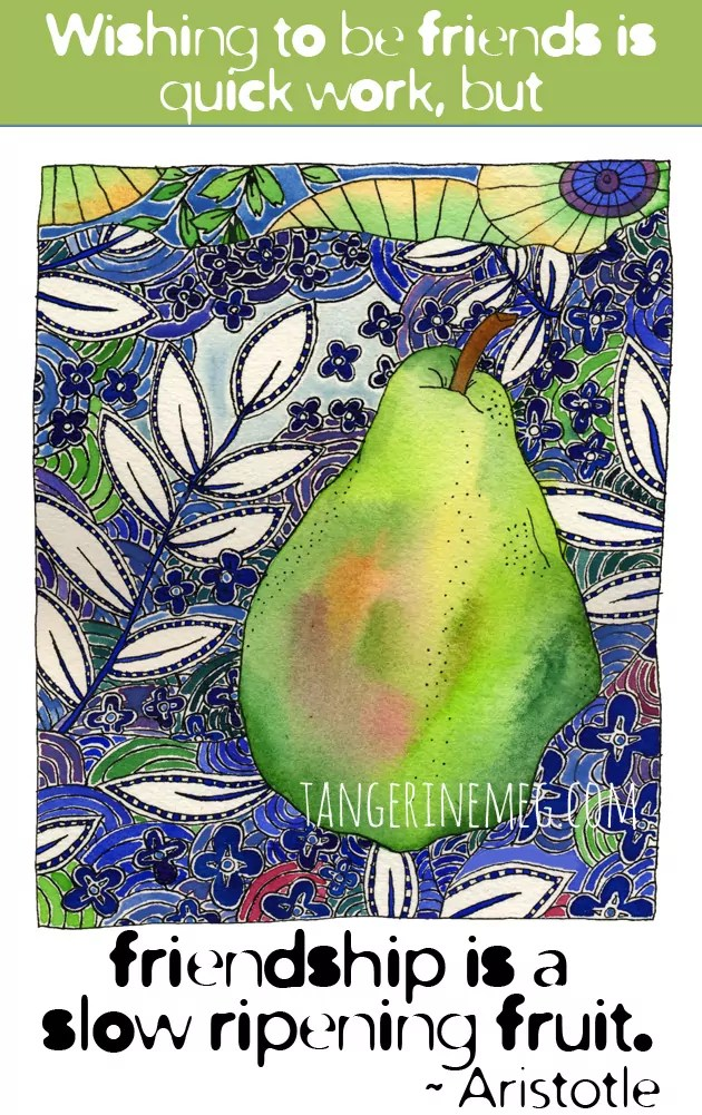 pear on pattern_aristotle-quote