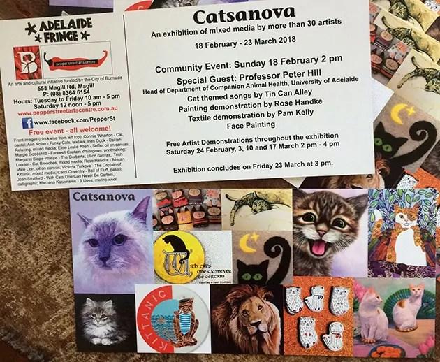 Catsanova Invitation Adelaide Fringe 2018
