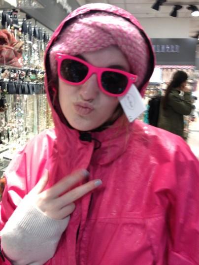Renee loves pink!