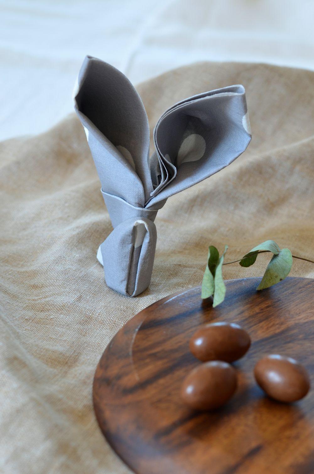 Pliage De Serviette En Lapin Pour Pques DIY Tangerine Zest