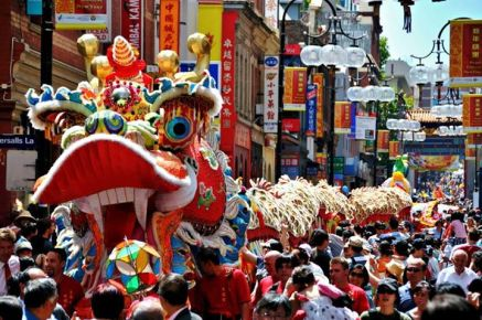 Chinese Dragon Parade for New Years Festival