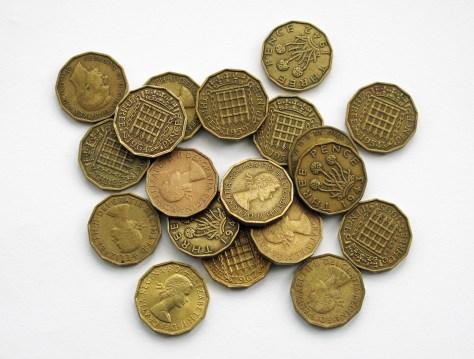 Threepenny coins