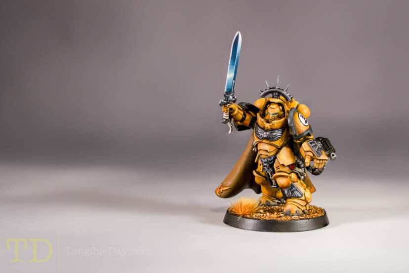 Primaris Captain - Imperial Fist Space Marine (Games Workshop) - Top 3 Websites for How to Paint Non-Metallic Metal (NMM)