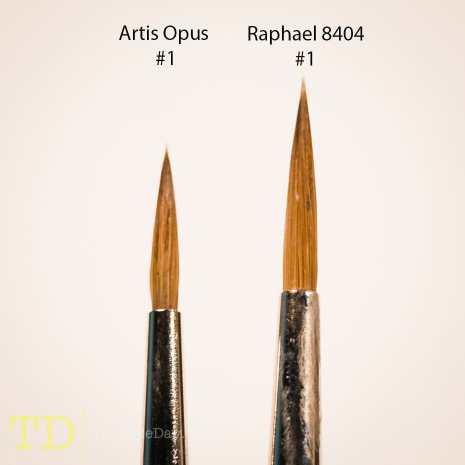 Artis Opus Brush Review - versus Winsor and Newton Series 7 and Raphael 8404