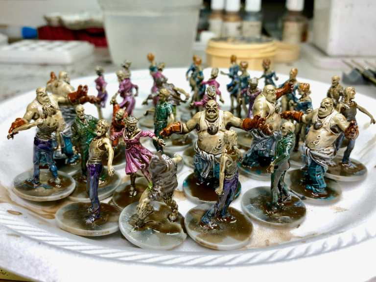 3 ways to speed paint board game miniatures - paint horde armies - 3 Tips to Painting Horde Armies (Tricks, Tools!)